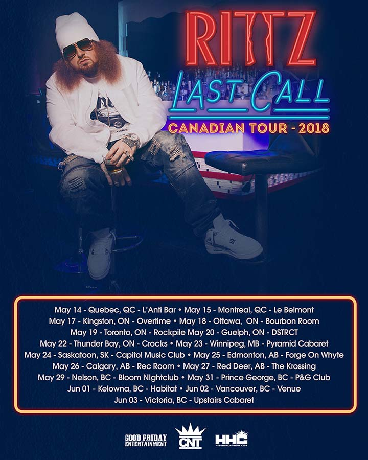RITTZ - Last Call Canadian Tour 2018