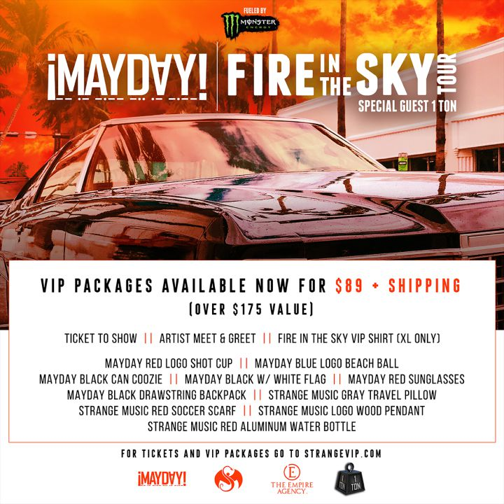 MAYDAY! Fire In The Sky Tour Strange Music, Inc Store