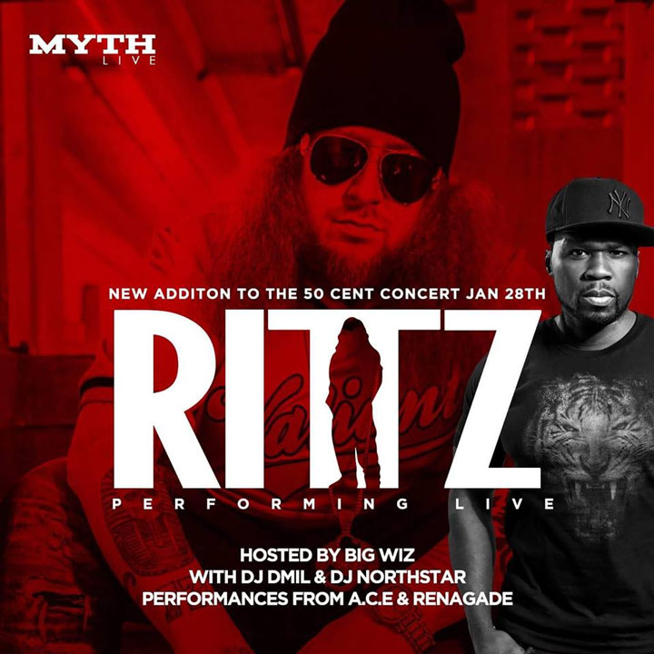 Rittz Live With 50 Cent! - Tour Graphic