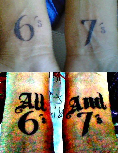 All 6's and 7's Tattoo - Yvette Galleogos