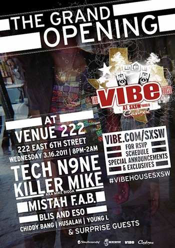 Tech N9ne To Headline VIBE House At South By Southwest Music