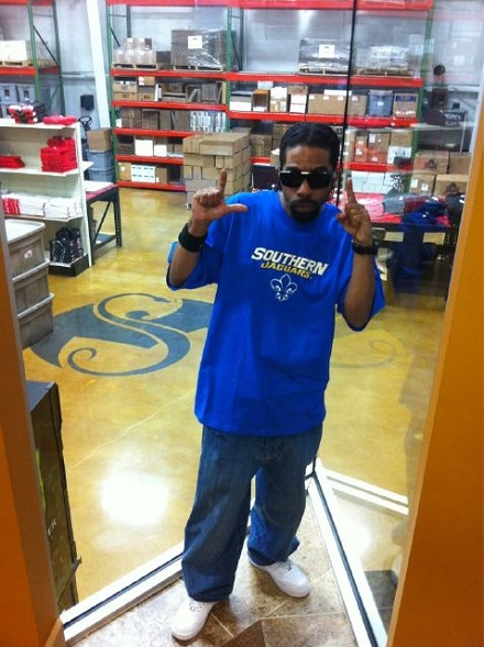 Young Bleed at Strange Music HQ