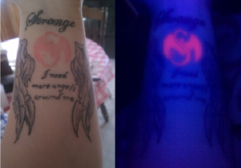 Fan's Glow In The Dark Tech N9ne Tattoo