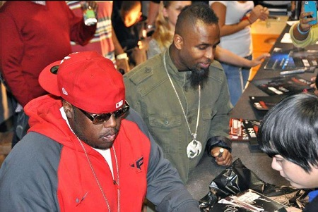 Tech N9ne And Krizz Kaliko at Fast Fridays At KC Trends