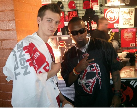 John Werking With Tech N9ne During A Meet And Greet