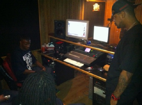 Kutt Calhoun And Jay Rock in The Studio