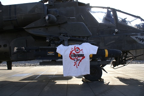All 6's And 7's Shirt On Helicopter