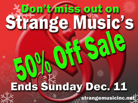 Strange Music Holiday Sale SM Blog