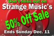 Strange Music Holiday Sale article img
