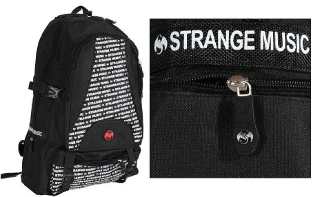 Strange Music Black Backpack