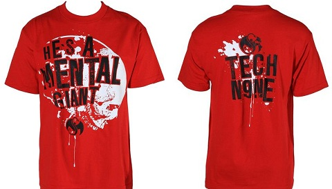 Tech N9ne - Mental Giant Red T-Shirt