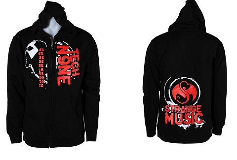 Tech N9ne - Black Nnutthowze Zip Up Hoodie