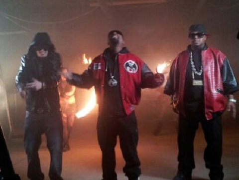 "TT, Tech N9ne, And Twista On The Set Of ""Midwest Meltdown"""