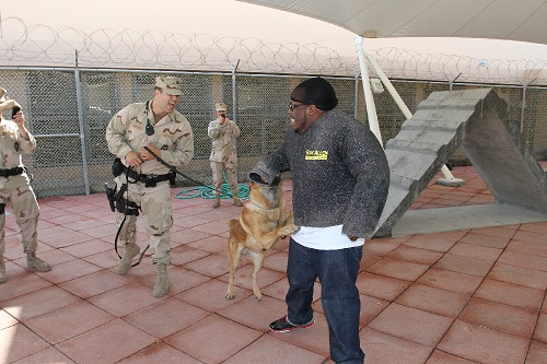 Krizz Kaliko During The USO Tour