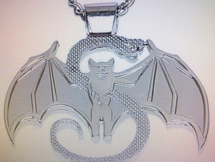 Strange Music Real Snake And Bat Pendant