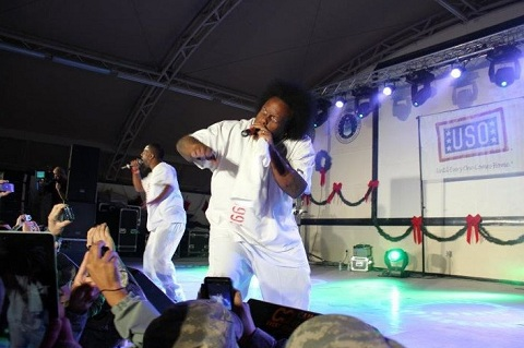 Tech N9ne And Krizz Kaliko On Stage In Kuwait