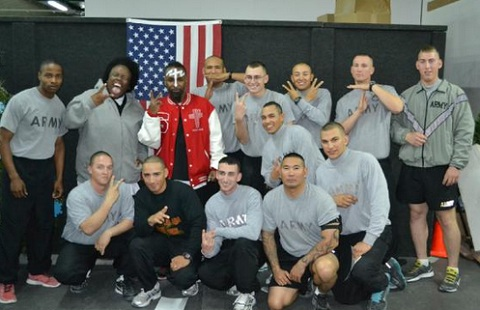 Tech N9ne And Krizz Kaliko With Troops In Bahrain