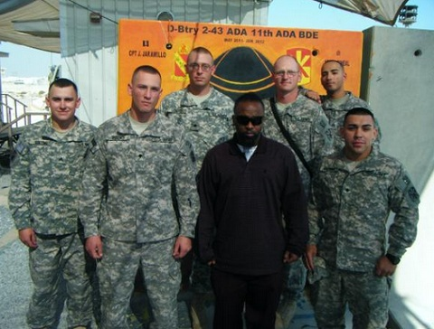 Tech N9ne With Troops In Bahrain