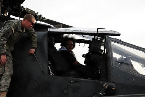 Kaliko Inside A Helicopter