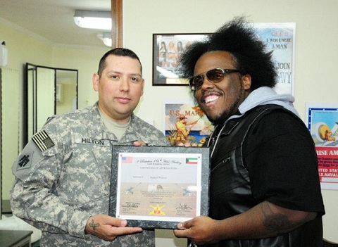 Krizz Kaliko During USO Tour