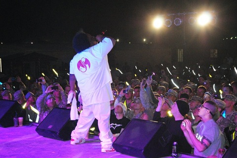 Kaliko Performing At Camp Buehring