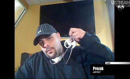 Prozak Addresses Fans Live On UStream