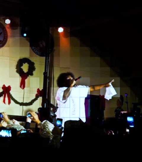 Krizz Kaliko Performing At Camp Buehring
