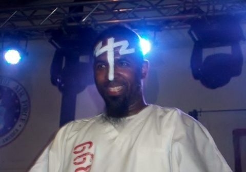 Tech N9ne On Stage At Camp Buehring