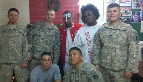 Tech N9ne And Krizz Kaliko Meet With Soldiers In Kuwait