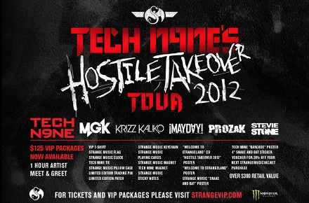 "Tech N9ne's 'Hostile Takeover 2012"" Tour VIP"
