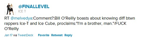 Ice-T Blasts Bill O'Reilly