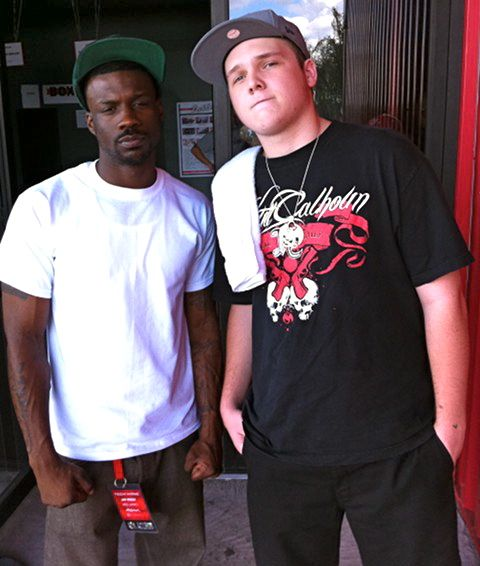 Jay Rock And Fan TJ Rackley