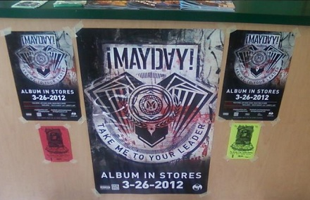 "¡Mayday! Promotional Material For ""Take Me To Your Leader"""