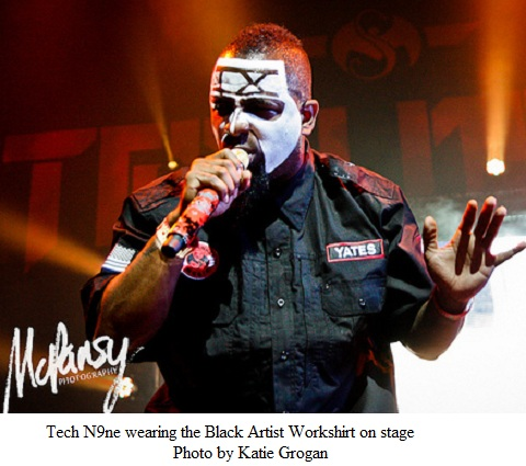 Tech N9ne Wearing The Black Artist Workshirt