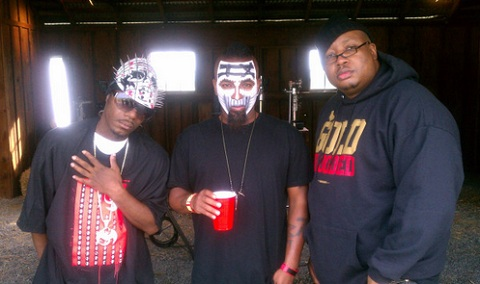 Tech N9ne On Set Of 'Zombie' With E-40 And Brotha Lynch Hung