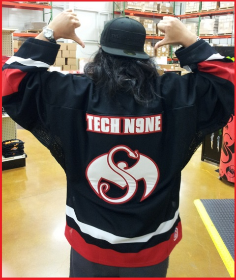 Black Tech N9ne Hockey Jersey 2012