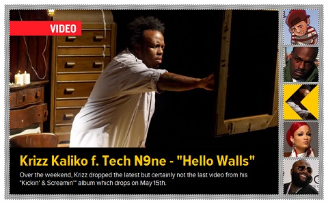 "Krizz Kaliko's ""Hello Walls"" Now On HipHopDX"