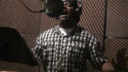 """Stevie In The Booth For """"Goin' Down"""""""