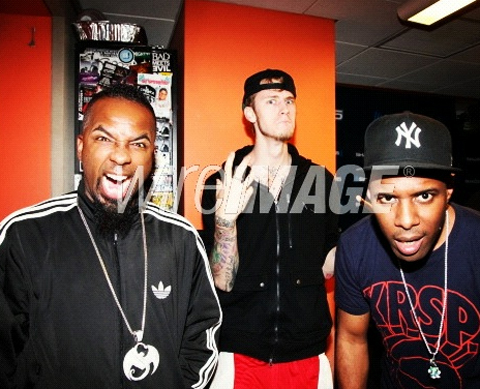 Tech And MGK Appear With DJ Whoo Kid