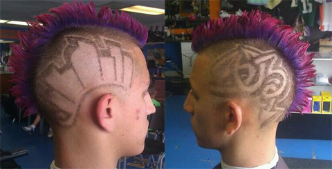 Fans Awesome Mohawk Nation Photo