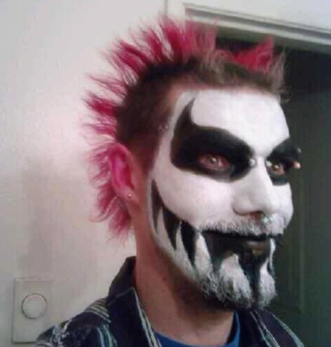 Mohawk And Face Paint