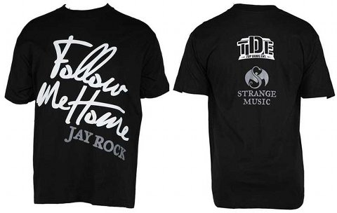 Black Follow Me Home T-Shirt