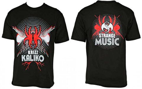 Krizz Kaliko - Black T-Shirt Sonic Spider K