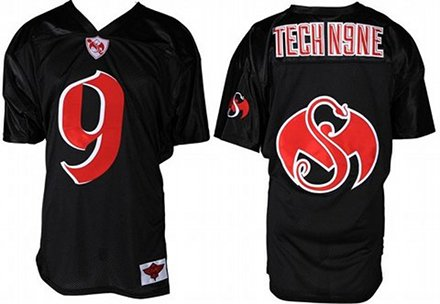 Tech N9ne Black Football Jersey 2012