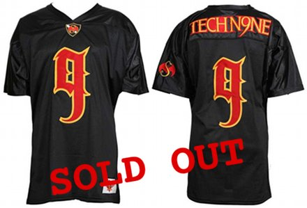 Tech N9ne Black Ltd Edition Football Jersey