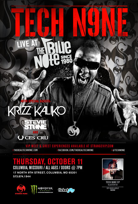 Tech N9ne - Blue Note - Columbia, Missouri
