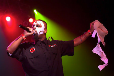 Tech N9ne Holds Bra