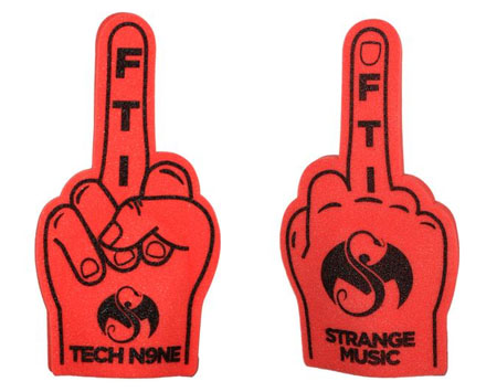 Tech N9ne Red Foam Finger