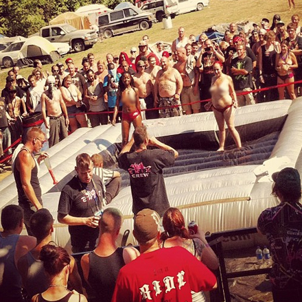 Oil Wrestling At The Gathering