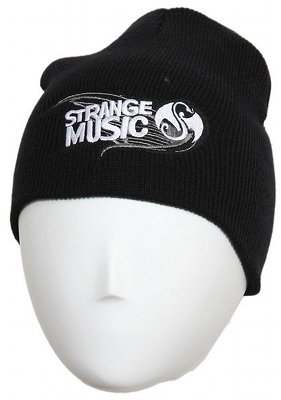 Strange Music Black Paint Skull Cap